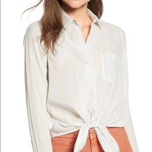 Madewell Tie Front Shirt